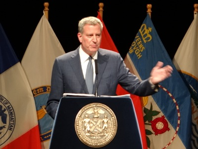 Mayor de Blasio's State of the City Address 2016 NYC | mayor de blasio state of the city address 2016 lehman college bronx ms 223 bronx state of nyc address 2016 bedford park neighborhood bronx neighborhoods