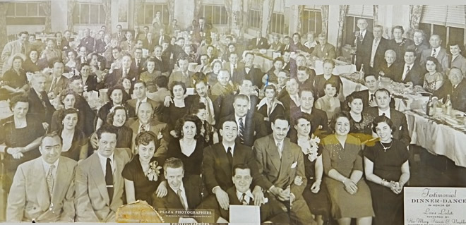 sunnyside chamber of commerce dinner 1951 photo queens ny