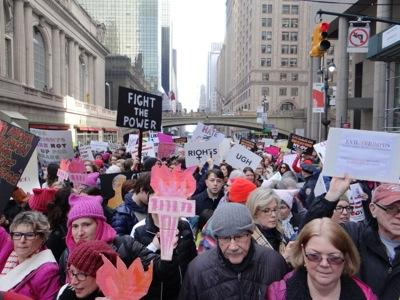 womens march nyc jan 21 2017 manhattan