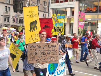 occupy movement & climate change marchers