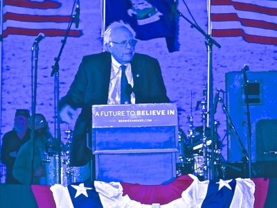 bernie sanders queens nyc photos