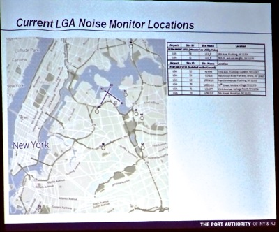 laguardia airport airplane noise monitors mobile