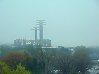 1964 nyc worlds fair observation tower and ny pavilion by philip johnson